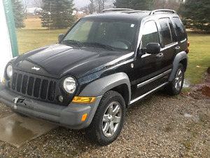 2005 jeep leberty trail rated 4x4