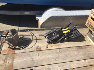 EZ steer system for Evinrude ETEC 200 motor and kicker