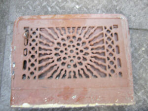 vintage decorative cast iron  air  vents wall and floor