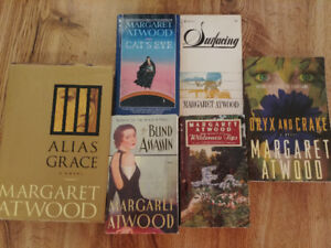 Margaret Atwood books $5 each or $25 for all