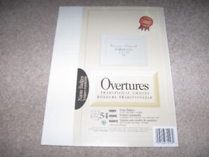 Overtures Traditional Emboss Name Badges-new/sealed pack + more