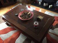 Large hardwood coffee table