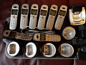 8 Matched Cordless Phones with chargers and base-unit