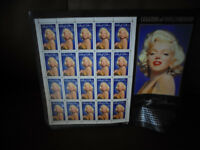 Brand New SHeet of USA Marilyn Munroe Postage Stamps