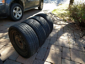 Winter tire set on rims for sale!