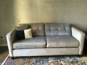 Beautiful, light-grey, West Elm couch in excellent condition!