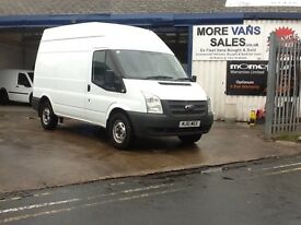 No vat 2011 1 owner ford transit mwb hi top rwd van 2.2 tdci 125bhp 6 speed
