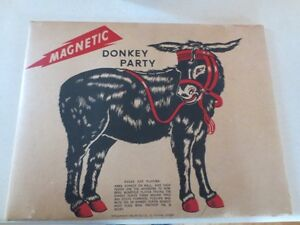VINTAGE MAGNETIC PIN THE TAIL ON THE DONKEY