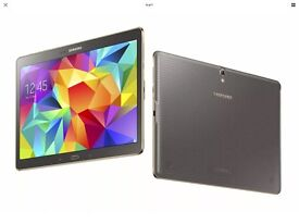 Samsung Galaxy Tab S 10.5 with cellular 4g 16gb Bronze, superb top spec android tablet with covers