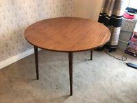 1960's vintage Formica Dining Table (drop leaf)