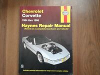 Corvette Shop Manual 1984-1996