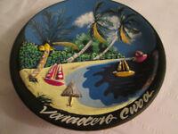 Clay decorative plate - Varadero, Cuba depiction.