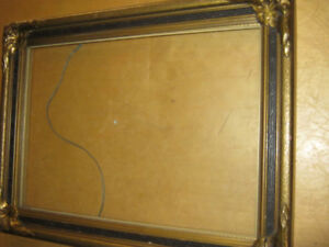 FRENCH ANTIQUE  CARVED WOOD GILD FRAME