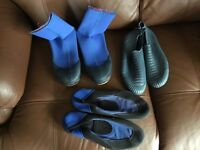 Wet boots, size S, sand shoes size 6, water shoes size 6