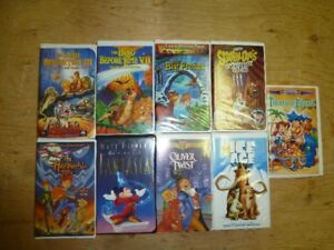 18 VHS childrens movies