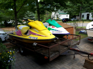 2 Seadoo XPs with trailer