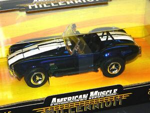 Ertl 1/18 1965 Shelby Cobra 427 Millenium Diecast Car Blue