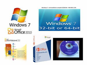 Office 2010 Pro --  windows 7 pro 32/64 bit---Office 2013 Pro