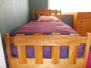 Twin Captains Bed with 4 drawer chest