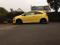 Yellow Limited edition Vauxhall corsa