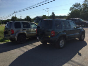 2002 JeepLiberty  4X4 (plus 2003 Jeep Liberty for parts)