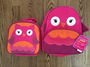 Children's Place Owl  Backpack (NWT) &  Lunch Bag