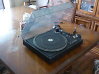 Thorens Turntable with 145 records