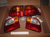 4 PIECE OEM REAR HONDA TAIL LIGHT LENSES  *LIKE NEW CONDITION  *