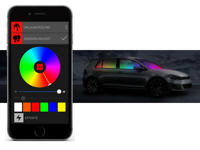 BEPHOS® RGB LED Innenraumbeleuchtung Mercedes GLK-Klasse X204 APP Steuerung