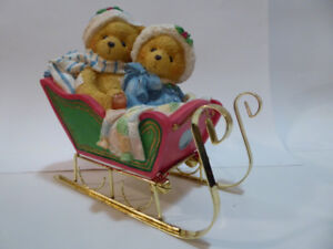 "CHRISTMAS COLLECTIBLE ""CHERISHED TEDDIES"" LARGE SLEIGH MUSIC BOX"