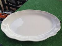 Large white platter plate