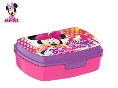 Box Portamerenda Porta pranzo Disney MINNIE Accessorio Asilo Scuola Bambina