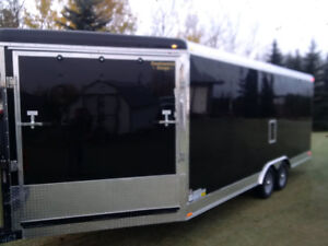 enclosed CARGO trailer-side by-car hauler-extra height-2018-25ft