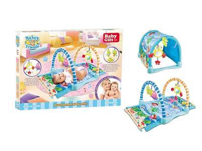 Baby activity sea life play mat, play gym with tunnel, lights and sounds