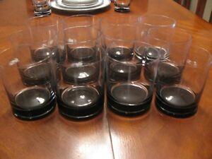 12  CRYSTAL  TUMBLER  GLASSES
