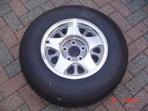 NEW TAKE OFF ALUMINUM WHEELS AND TIRES  ONE PAIR