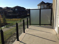 Vinyl Deck covering and Welded Aluminum railings Residential and