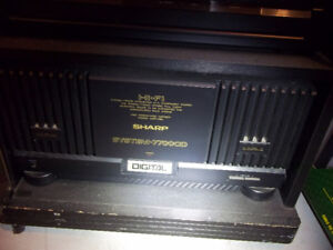 Sharp rack type stereo with 200 watt power amp.