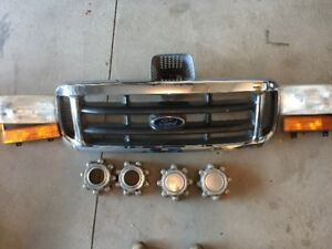 1999-2007 Ford F-250 Grill, Front Lights and Rim Caps