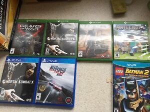 Xbox one,PS4 and Wii U games