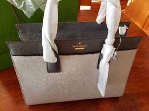 Kate Spade Satchel Cameron street candace Steel grey purse NEW