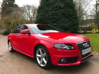 STUNNING BRIGHT RED AUDE A4 S LINE SALOON 2.0TDI AUTO MULTITRONIC IMMACULATE