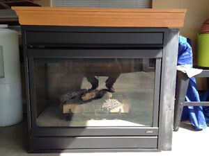 Two Sided Lennox Natural Gas Fireplace