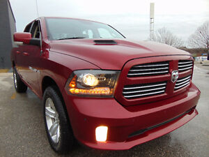 2014 DODGE RAM 1500 SPORT, 4X4, 5.7L HEMI V8, LOADED,ONE OWNER