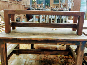 WOOD BENCH with Delivery in the GTA