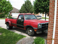 "1991 Dodge Ram D30 ""Diesel Dually"" - Safetied and E-Tested"