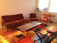 Sofa & Fauteuil  Teck * Mid Century * Teak Couch & Lounge Chair