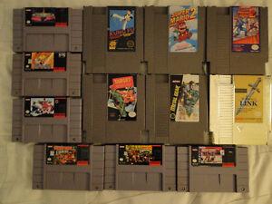 Jeux SNES / Genesis / Famicom et NES + Boites SMB1 et 3