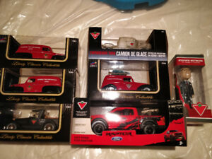 Canadian Tire Die Cast Trucks and Bobblehead