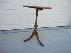 Antique Solid Wood End Table Or Wine Table
